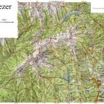 Harta traseelor turistice cabana Voina