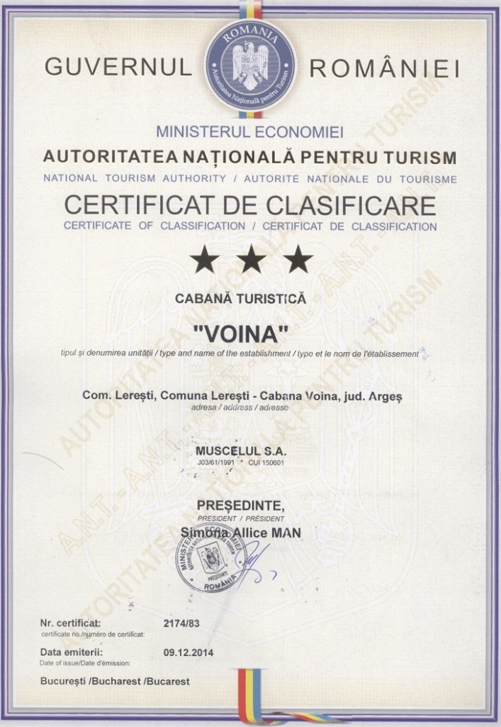certificat voina